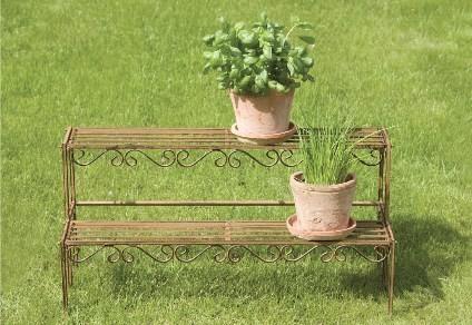 metall blumentreppe pflanzen treppe garten kr uter regal. Black Bedroom Furniture Sets. Home Design Ideas