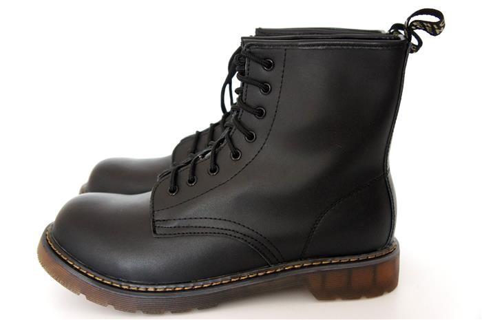 Herren echt leder punk boots worker springer stiefel for Schuhschrank stiefel