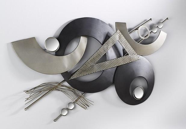 Xxl metall wand bild wohnraum deko wandschmuck dekoration for Ausgefallene wanddeko