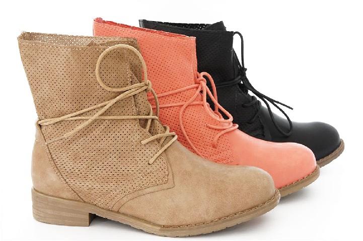 damen lochmuster stiefelette ankle boots l cher stiefel. Black Bedroom Furniture Sets. Home Design Ideas