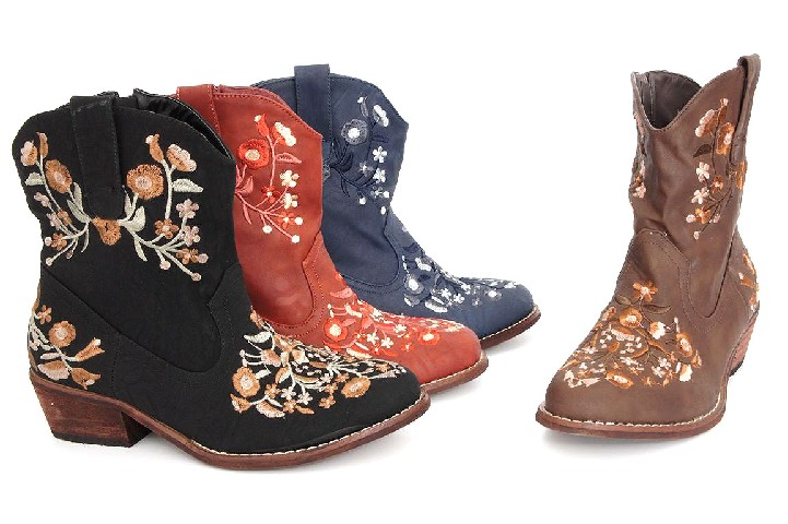 damen trachten stiefel western boots biker stiefeletten. Black Bedroom Furniture Sets. Home Design Ideas